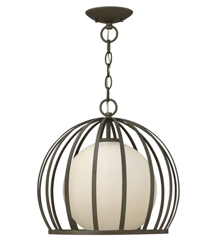 Fredrick Ramond FR32903BKS Renata 1 Light 15 inch Blacksmith Foyer Light Ceiling Light photo