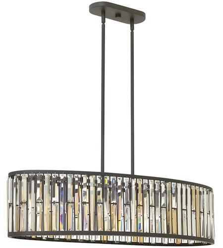 Fredrick Ramond Fr33738vbz Gemma 6 Light 45 Inch Vintage Bronze Linear Ceiling