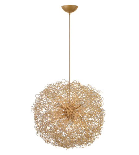 Fredrick Ramond FR36504ANG Ion 6 Light 22 inch Anodized Gold Chandelier Ceiling Light photo