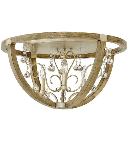 Fredrick Ramond FR37231SLF Abingdon 3 Light 24 inch Silver Leaf Flush Mount Ceiling Light photo