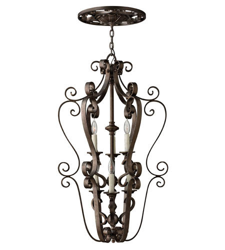 Fredrick Ramond Paloma 6 Light Foyer Light in Aged Iron FR39466AGI photo