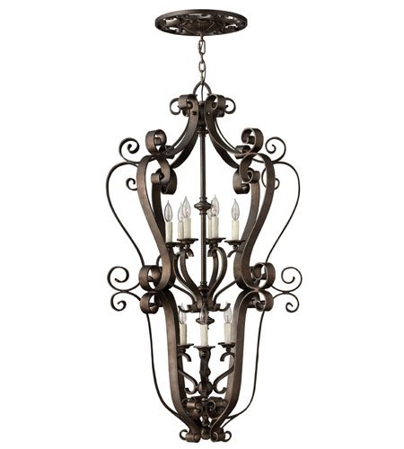 Fredrick Ramond Paloma 9 Light Foyer Light in Aged Iron FR39468AGI photo