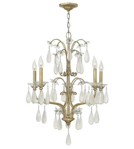 Fredrick Ramond Francesca 5 Light Chandelier in Silver Leaf Finish FR40315SLF photo