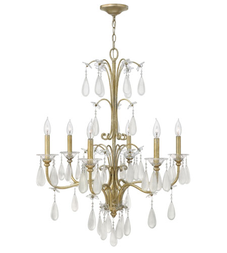 Fredrick Ramond Francesca 6 Light Chandelier in Silver Leaf Finish FR40316SLF photo
