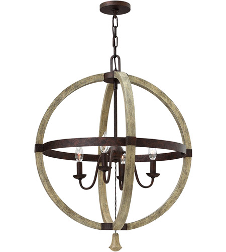Fredrick Ramond FR40564IRR Middlefield 4 Light 24 inch Iron Rust Chandelier Ceiling Light, Single Tier photo
