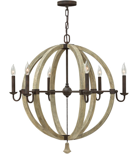 Fredrick Ramond FR40566IRR Middlefield 6 Light 31 inch Iron Rust Chandelier Ceiling Light, Single Tier photo