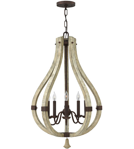 Fredrick Ramond FR40575IRR Middlefield 5 Light 20 inch Iron Rust Foyer Ceiling Light, Single Tier photo