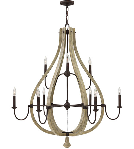 Fredrick Ramond FR40578IRR Middlefield 9 Light 41 inch Iron Rust Chandelier Ceiling Light, Two Tier photo