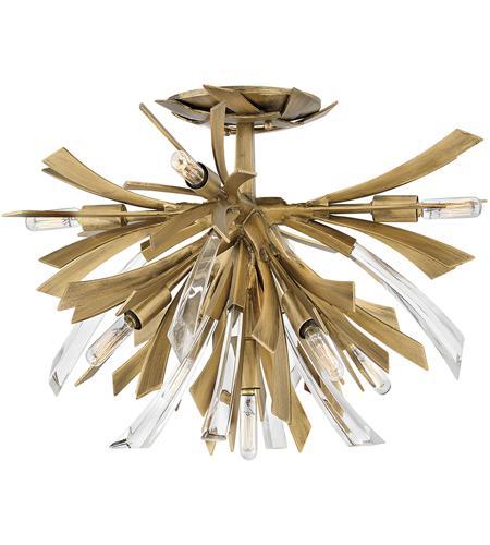 fredrick ramond fr40903bng vida 9 light 24 inch burnished gold semi