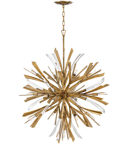 Vida 13 Light 36 Inch Burnished Gold Chandelier Ceiling Single Tier