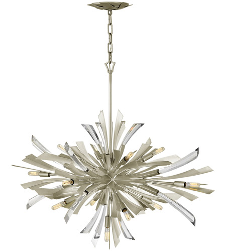Fredrick Ramond FR40906GG Vida 13 Light 36 inch Glacial Pendant Ceiling Light photo