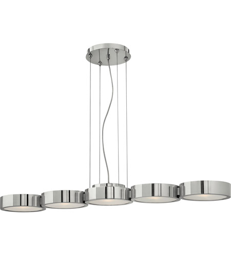 Fredrick Ramond FR41435PAL Broadway 5 Light 41 inch Polished Aluminum Linear Chandelier Ceiling Light photo