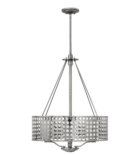 Fredrick Ramond Zephyr 4 Light Chandelier in Brushed Nickel FR41525BNI photo