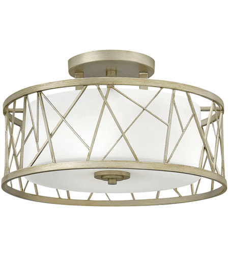Fredrick Ramond FR41622SLF Nest 3 Light 20 inch Silver Leaf Semi-Flush Mount Ceiling Light in White Scavo photo