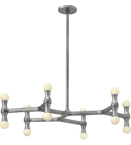 Fredrick Ramond Karma 12 Light Chandelier in Polished Aluminum FR41946PAL photo