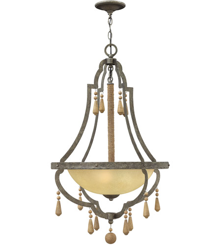 Fredrick Ramond FR42284DIR Cordoba 3 Light 22 inch Distressed Iron Inverted Pendant Ceiling Light photo