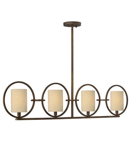 Fredrick Ramond FR42402BRC Pandora 4 Light 45 inch Brushed Cinnamon Chandelier Ceiling Light photo