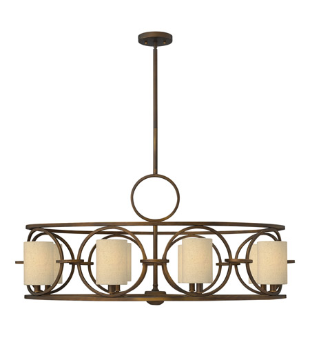 Fredrick Ramond FR42408BRC Pandora 8 Light 41 inch Brushed Cinnamon Chandelier Ceiling Light photo