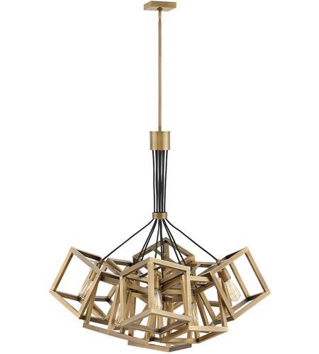 Ensemble 9 Light 36 Inch Brushed Bronze Chandelier Ceiling Single Tier