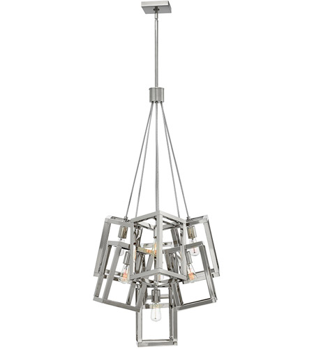 Fredrick Ramond FR42448PNI Ensemble 7 Light 28 inch Polished Nickel Pendant Ceiling Light photo