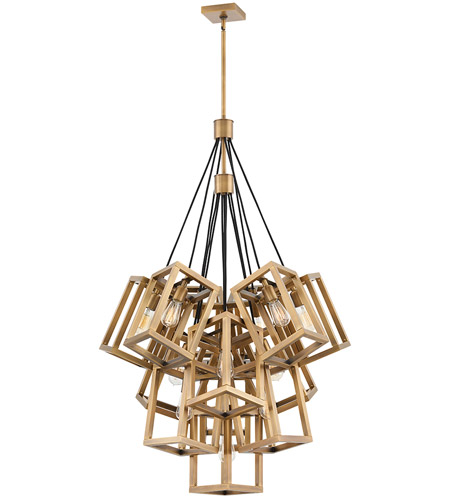 Ensemble 13 Light 33 Inch Brushed Bronze Chandelier Ceiling