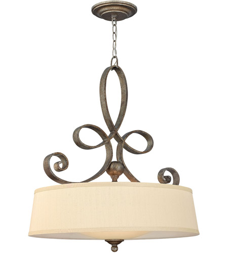 Fredrick Ramond FR42504BME Monterey 4 Light 24 inch Brushed Merlot Inverted Pendant Ceiling Light photo