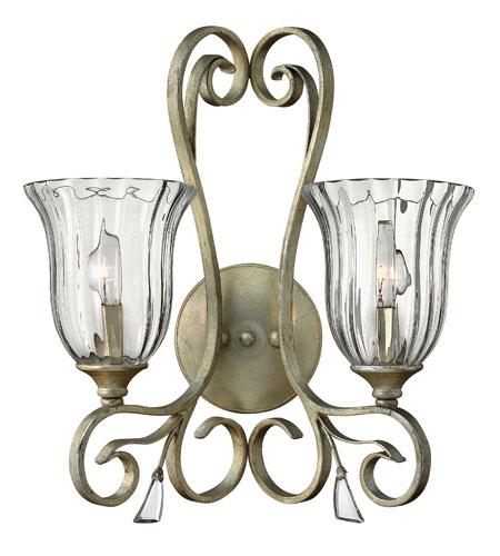 Fredrick Ramond Celeste 2 Light Sconce in Silver Leaf FR42642SLF photo