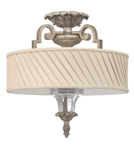 Fredrick Ramond FR42721SLF Kingsley 3 Light 16 inch Silver Leaf Semi Flush Ceiling Light photo