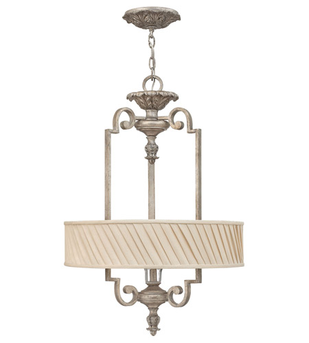 Fredrick Ramond FR42724SLF Kingsley 3 Light 20 inch Silver Leaf Foyer Light Ceiling Light photo
