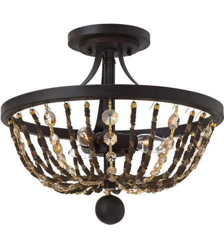 Fredrick Ramond FR42861VBZ Hamlet 3 Light 15 inch Vintage Bronze Semi-Flush Mount Ceiling Light photo