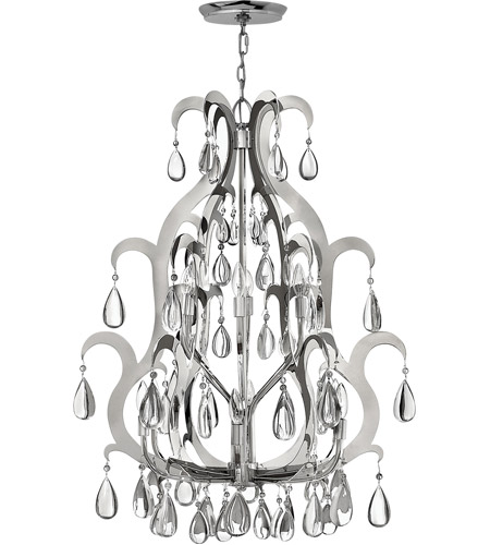 Fredrick Ramond Xanadu 12 Light Chandelier in Polished Stainless Steel FR43352PSS photo