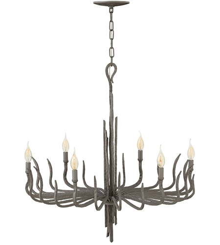 Fredrick Ramond FR43416MMB Spyre 6 Light 28 inch Metallic Matte Bronze Chandelier Ceiling Light, Single Tier photo