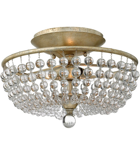 Fredrick Ramond FR43751SLF Caspia 2 Light 16 inch Silver Leaf Semi-Flush Mount Ceiling Light photo