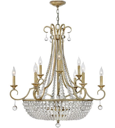 Fredrick Ramond Caspia 12 Light Foyer Light in Silver Leaf FR43759SLF photo