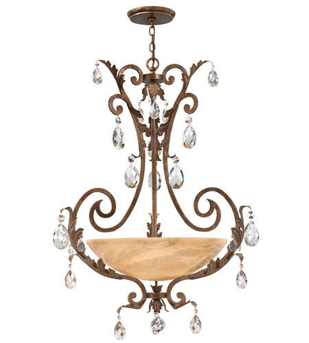 Fredrick Ramond FR44103FRM Barcelona 4 Light 34 inch French Marble Chandelier Ceiling Light in Tinted Natural Alabaster photo