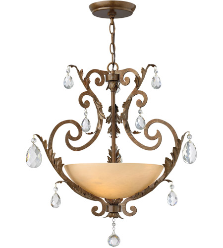 Fredrick Ramond Barcelona 3 Light Chandelier in French Marble FR44105FRM photo