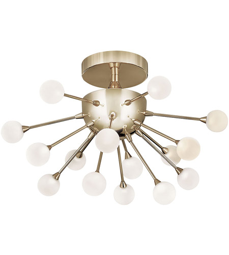 Fredrick Ramond FR44411POG Impulse LED 15 inch Polished Gold Semi-Flush Mount Foyer Light Ceiling Light photo