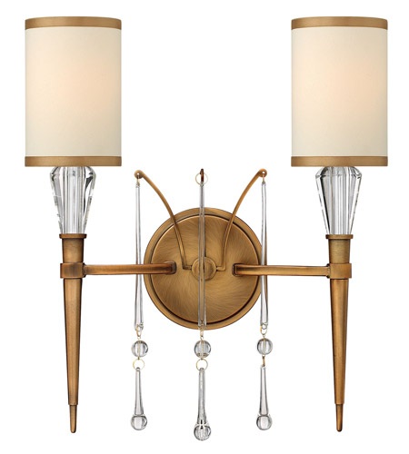 Fredrick Ramond Bentley 2 Light Sconce in Brushed Bronze FR44502BBZ photo