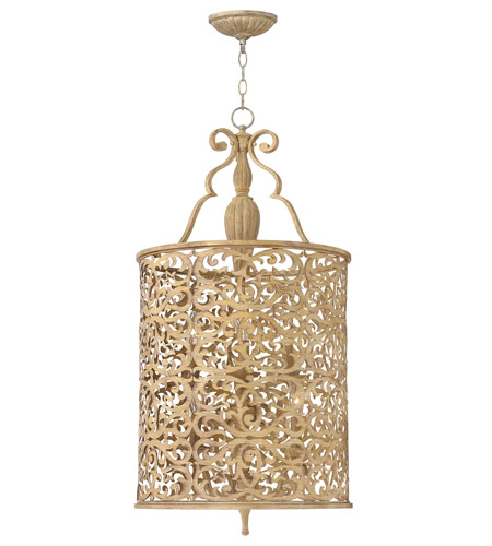 Fredrick Ramond FR44625BCH Carabel 6 Light 18 inch Brushed Champagne Foyer Light Ceiling Light photo