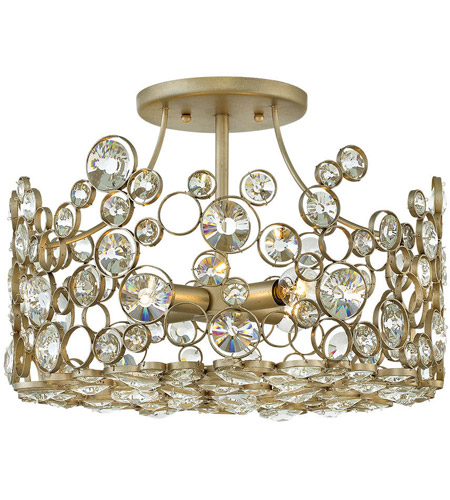 Fredrick Ramond FR44813SLF Anya 4 Light 16 inch Silver Leaf Semi-Flush Mount Ceiling Light photo