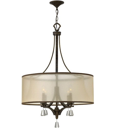 Fredrick Ramond FR45604FBZ Mime 4 Light 25 inch French Bronze Chandelier Ceiling Light in Translucent Amber, Single Tier photo