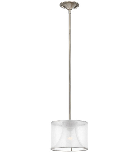 Fredrick Ramond FR45607BNI Mime 1 Light 9 inch Brushed Nickel Mini-Pendant Ceiling Light in Sheer Hardback photo