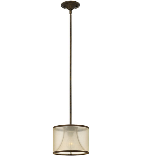 Fredrick Ramond FR45607FBZ Mime 1 Light 9 inch French Bronze Mini-Pendant Ceiling Light in Translucent Amber photo