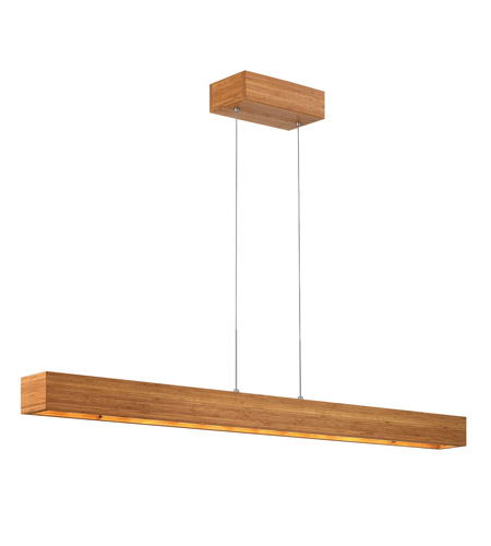 Fredrick Ramond Zen 3 Light Chandelier in Bamboo FR46206BAM photo