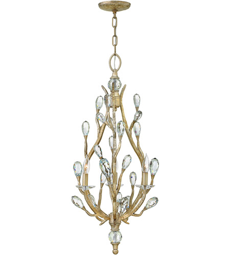 Eve 3 Light 19 Inch Champagne Gold Chandelier Ceiling