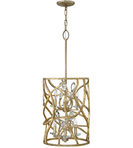 Fredrick Ramond FR46805CPG Eve 6 Light 15 inch Champagne Gold Foyer Ceiling Light, Two Tier photo