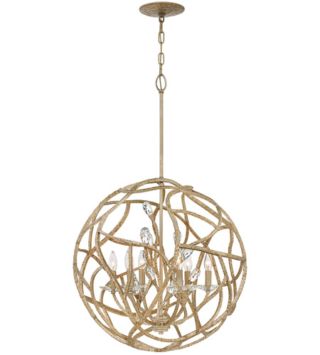 Fredrick Ramond FR46807CPG Eve 6 Light 24 inch Champagne Gold Chandelier Ceiling Light, Single Tier photo
