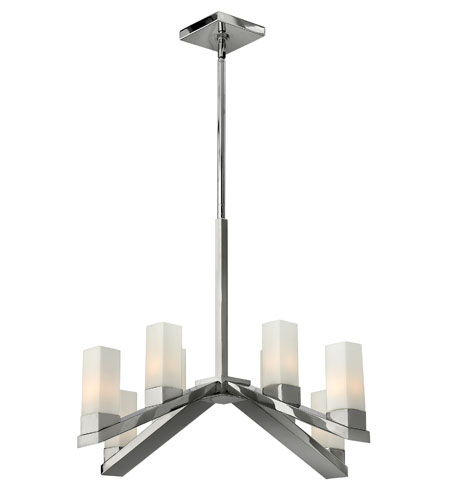 Fredrick Ramond Omni 8 Light Chandelier in Polished Nickel FR47208PNI photo