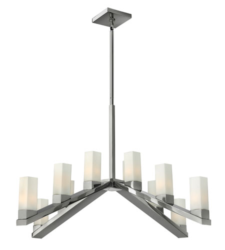 Fredrick Ramond Omni 12 Light Chandelier in Polished Nickel FR47209PNI photo