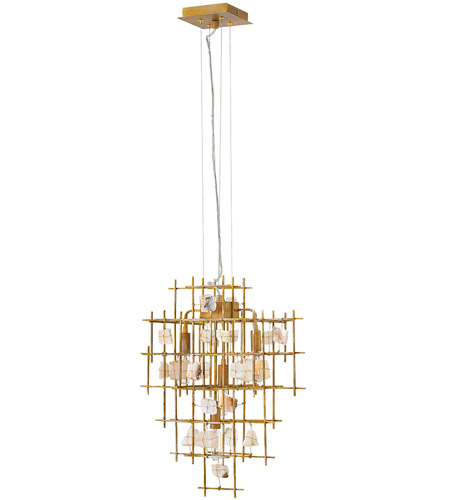 Fredrick Ramond FR47884LGD Petra 4 Light 24 inch Luster Gold Chandelier Ceiling Light, Single Tier photo thumbnail